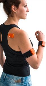 xsens motion sensors on body